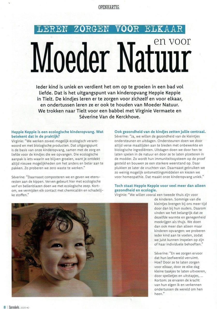 Heppie Keppie in de pers: Moeder Natuur
